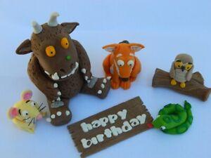 edible 3D GRUFFALO SET cake TOPPER DECORATION fox SNAKE owl MOUSE wooden sign