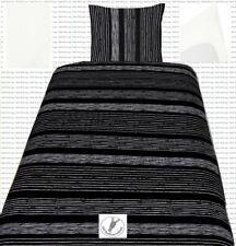 SatinBettwäsche135x200 80x80 und Spannbettlaken Jersey 100% Baumwolle Sch und We