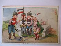 Kinder als Soldaten, Instruktionsstunde, sign. Rud. Schneider ♥  (41234)