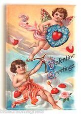 Valentine's Day Greetings FRIDGE MAGNET (2 x 3 inches) valentine cupid angel