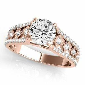 0.75 Ct. Halo Brilliant Cut Diamond Engagement Forever Ring Crafted In 14k Gold