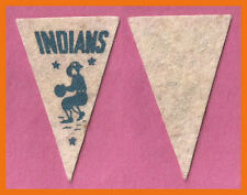 VINTAGE 1950's Cleveland Indians Baseball Pennant!  WOW!