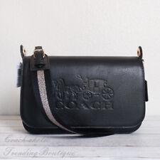 Coach F72703 Pebble Leather Jes Messenger Crossbody Handbag Black