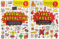 MATHS KS2 AGE 7+ TIMES TABLE ADDING & SUBTRACTING HELP WITH HOMEWORK 2 BOOK SET