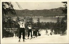 Skiing Ski Tow Line Real Photo Postcard myn
