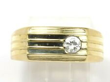 Round Diamond Fashion Ring .33ct Men's 14k Yellow Gold Single