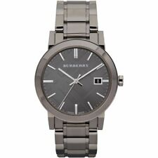 BURBERRY BU9007 Grey Dial Grey Ion-plated Men's Watch
