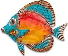 Reef Fish metal & glass wall art sea life decor