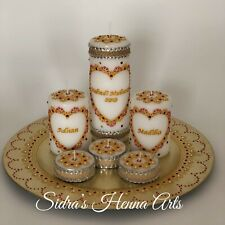 Mehndi Candles with Thaal Plate