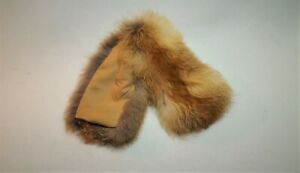 Mens fox fur mittens with cashmere and fleece lining