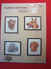 EVERLUME CANINE CORRAL Shariane Designs 11 Cross Stitch Patterns Booklet #B210