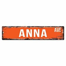 SWNA0033 ANNA AVE Street Chic Sign Home Store Shop Wall Decor Birthday Gift