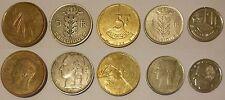 Belgio België Belgique 5 monete 5 coins 20 francs 5 francs 1 franc Baldovino