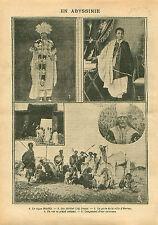 Abyssinia Negus Menelik II Sahle Maryam empereur d'Éthiopie 1914 ILLUSTRATION