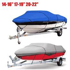 Waterproof Trailable Fish Ski Boat Cover V-Hull 11-13'' 14-16'' 17-19'' 20-22''