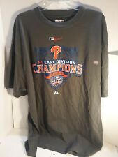 Majestic MLB Authentic Philadelphia Phillies 2009 NL East Division Champs TShirt