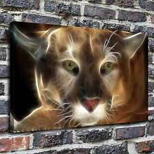 Fire cougar Paintings HD Print on Canvas Home Decor Wall Art Pictures posters