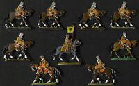 Kaiserliche Kürassiere 16.+ 17. Jhd. Marsch 9 Fohler Zinnfiguren 30mm handbemalt