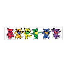 Rainbow Dancing Bears - 2x10 LGBT Gay & Lesbian Support Sticker Decal