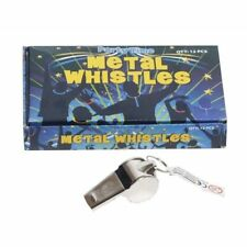 12 x TOY METAL WHISTLE SPORTS TRAINING COACH REF PARTY BAG FILLER GIVEAWAY GIFT