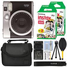 Fujifilm Instax Mini 90 neo clásica cámara instantánea Fuji Negro + paquete de película de 40