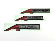Acura RDX 19-20 Black Carbon Fiber Rear Side Aspec Emblem Set of 3 Genuine OEM