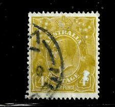 HICK GIRL-USED AUSTRALIA STAMP   SC#73  1929  KING GEORGE V     D971