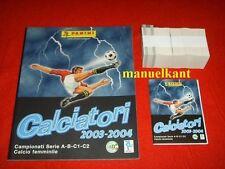ALBUM FIGURINE CALCIATORI PANINI 2003 2004 04  + SET COMPLETO + AGGIORNAMENTI