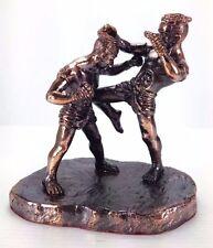 Thai Fight King Muaythai Boxing Combat Mma Figurine Boxer Kick Statue Art Decor