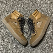 Coach Dave High Top Sneaker Brown Leather Suede Men's Size 9D