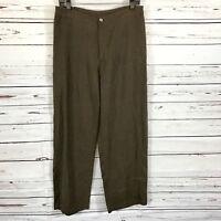 Chico's Women's Linen Pants brown Casual career Size 2
