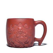 90cc authentic yixing zisha Belt cup master tea cups Carving Maitreya Buddha