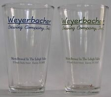 Weyerbacher Brewing Co. Easton, PA beer pint glasses Set of 4