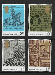 1976 GB.500th Anniversary of British Printing - Complete Set - MNH.