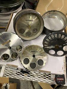 1950 Nash Speedometer & Gauges Instrument Cluster Huge LOT Of Parts Odometer