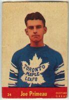 1955-56 Parkhurst Hockey #24 Joe Primeau OTG G-VG Condition (2020-01)