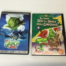 Dvd Lot of 2 How the Grinch Stole Christmas & Horton Hears a Who 3 Movies Total