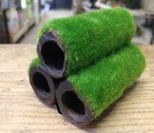 3 Med/LGE tubos de bambú de cerámica de Camarón Acuario Peces Tanque Ornamento de efecto Moss
