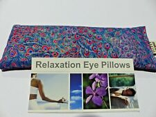 Cotton Eye Pillow. Linseed Peacock Feathers CHOOSE Lavender Chamomile Unscented