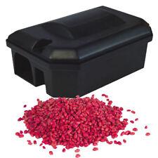 PROFESSIONAL RODENT RAT BOX TRAP STATION - STRONGEST Whole Wheat Bait Poison