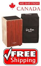 Gon Bops Fiesta Cajon with Adjustable Snare- Mahogany with free Bag