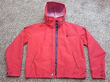 Ralph Lauren Polo Windbreaker Rain Coat Jacket Red Men's Medium with Hood