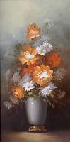 Original Robert Cox Flower/Floral Still Life Oil Painting Signed Framed