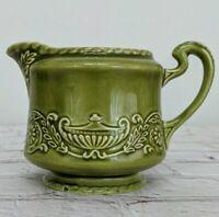 Canonsburg Pottery Company Regency Ironstone China Creamer Olive Green
