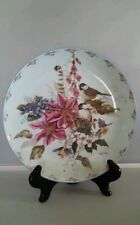 "Cyndy Callog Collector Bradex Plate-""Sitting Softly""Chickadees Floral Fancies"