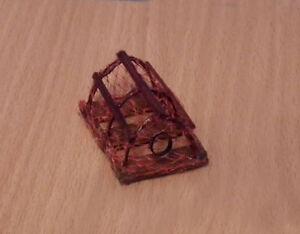 1/12 dolls house miniature Hand Made Lobster Pot / Basket Fishing, Pub Acc. LGW