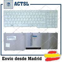 Teclado Espanol TOSHIBA SATELLITE L670D L750 L750D L770 C660D C665 L650D White