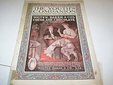 10/22/1908 YOUTH'S COMPANION magazine cover BAKER COCOA
