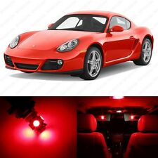 11 x Brilliant Red LED Interior Light Package For 2006 - 2012 Porsche Cayman