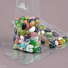 """100 Qty. 2 1/2"""" x 3/4"""" x 6 1/2"""" Crystal Clear Cello Gusset Bags"""